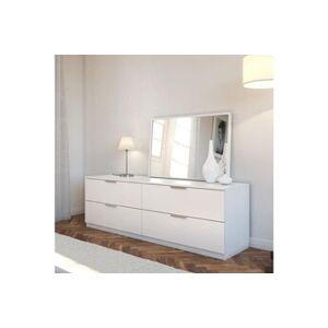 Marque Commode de chambre billund commode de chambre style contemporain mélaminé blanc - l 160 cm