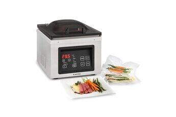 klarstein le vide appareil de mise sous-vide 630w - soudeuse alimentaire - commande tactile - inox