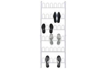 GENERIQUE Produits ménagers collection achgabat étagère à chaussures blanc acier pour 18 paires de chaussures