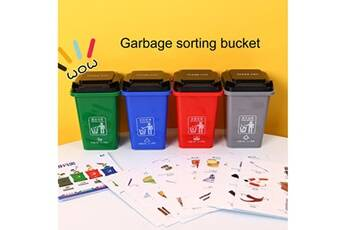 Generic 4pc garbage classement pen trash can home game props seau d'identification 2843