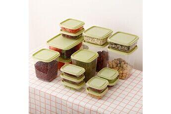 Boîte de rangement de cuisine scellant le récipient de pot frais en plastique de conservation des aliments
