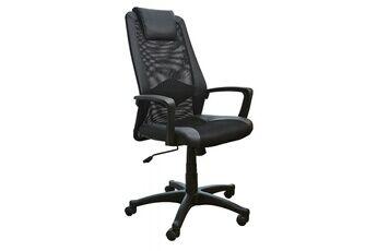 Demeyere Fauteuil de bureau noir avec repose-tête