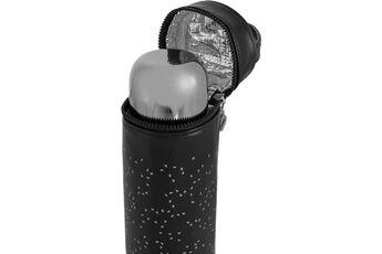 Marque Conservation repas - deluxe thermos silver exclusif pour liquides de 500ml avec effet chromé et sac isotherme prémium, un pack de luxe