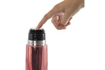 Marque Conservation repas - deluxe thermos rose exclusif pour liquides de 500ml avec effet chromé et sac isotherme prémium, un pack de luxe