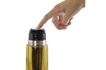 Marque Conservation repas - deluxe thermos gold exclusif pour liquides de 500ml avec effet chromé et sac isotherme prémium, un pack de luxe
