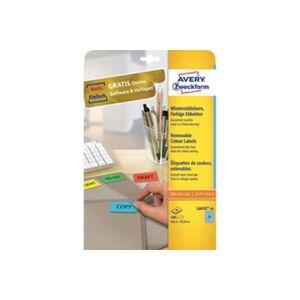 Avery     avery zweckform etiquette universelle, 63,5 x 33,9 mm, jaune     noir