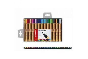 stabilo coffret de 25 stylos feutre point 88 - couleurs assorties