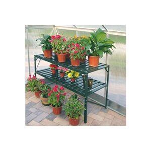 Chalet & Jardin Table de jardin 2 plateaux verte