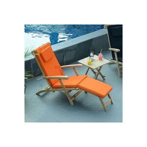 Teck'attitude Matelas orange pour chaise longue