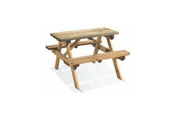 Jardipolys Table de pique-nique en bois pour enfants WAPITI
