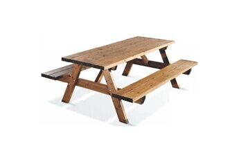 Jardipolys Table pique-nique en bois GARDEN 200B