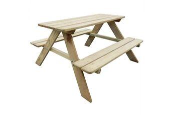 Vidaxl Table de pique-nique pour enfants 89 x 89,6 x 50,8 cm pinède
