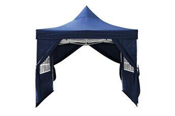 homdox 3x3m tente de plage de camping tonnelle d'extérieur imperméable blanc