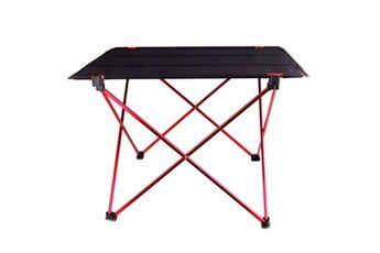 Justgreenbox Table pliante portable bureau de pique-nique extérieur en alliage d'aluminium ultra-léger