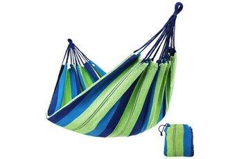hamac suspendu extérieur toile pour plage randonnée 200*80cm bleu