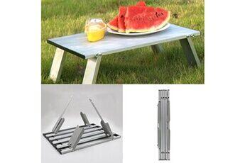 Generic Mini table de pique-nique pliante portable extérieure en alliage d'aluminium