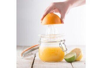Kilner Presse agrume en verre sur bocal hermétique 0.5l juicer