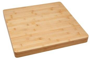 Pegane Planche à découper en bambou, coloris naturel - dim : l.37 x l.37 x h.3.50cm -pegane