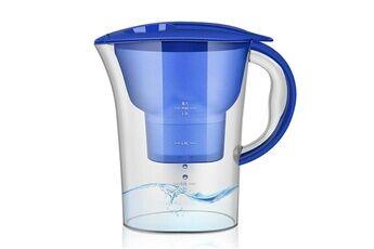 Prixwhaou Outil d'eau potable-1.3l portable accueil cuisine charbon actif filtre bouteille d'eau froide (bleu)