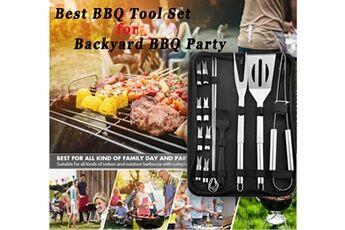 generic ustensiles barbecue 16pcs ustensiles barbecue en acier inoxydable kit professionnel barbe 66