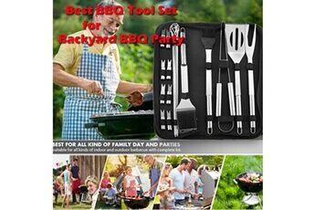 generic ustensiles barbecue 20pcs ustensiles barbecue en acier inoxydable kit professionnel barbe 65