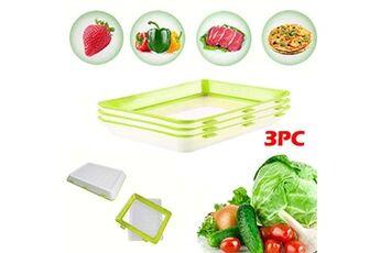 Generic 3pc protection de l'environnement protection contre la pollution bac de conservation des aliments sous vide accessoire de cuisine 4063