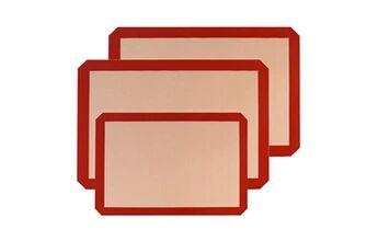 Generic Silicone mat 3 pièces antiadhérentes toile cuisson feuille patisserie tapis 5092
