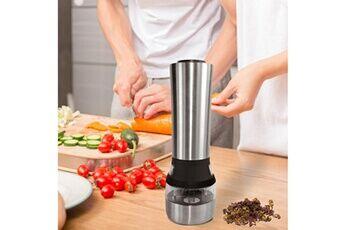 Gadget de cuisine de fraisage épicé de broyeur d'herbe de moulin à sel électrique de poivre