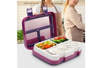 Multi-grilles de compartiment de boîte à lunch de stockage de récipients de préparation de nourriture en plastique