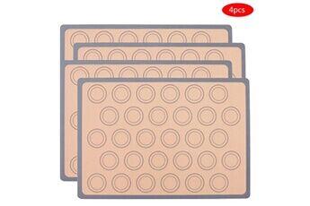 Generic Tapis de cuisson en silicone macaron - doublure en silicone pour feuille de cuisson accessoire de cuisine 7352