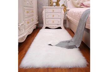 Generic Couverture de chaise de tapis doux laine de peau de mouton artificielle tapis de siège de tapis poilu chaud tapis l vinwo443