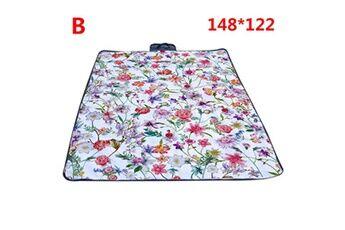 Generic Couverture de pique-nique extérieure imperméable tapis de camping pliant tapis de plage de voyage accessoire de cuisine 6415