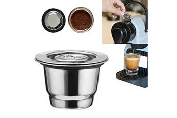 Generic Filtre en acier inoxydable café réutilisable café nespresso capsule faire pour 2913