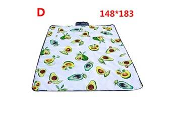 Generic Couverture de pique-nique extérieure imperméable tapis de camping pliant tapis de plage de voyage accessoire de cuisine 6433