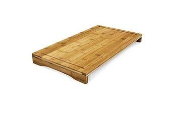 Helloshop26 Planche à découper bambou protège plaque bords surélevés et rigoles pour jus 52 cm helloshop26 4313026