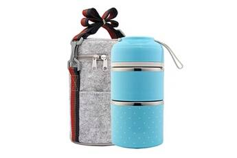 Generic Conteneur de pique-nique en acier inoxydable pour boîte à lunch thermique portable étanche aux fuites tool5142