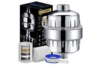 Generic L'adoucisseur de filtre à eau de pommeau de douche d'étape enlève le chlore avec 3 cartouches accessoire de cuisine 2465
