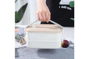 Generic Conteneur isotherme de nourriture de bento de boîte à lunch d'acier inoxydable pour des femmes d'enfants tool4914