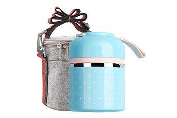 Generic Conteneur de pique-nique en acier inoxydable pour boîte à lunch thermique portable étanche aux fuites tool5141