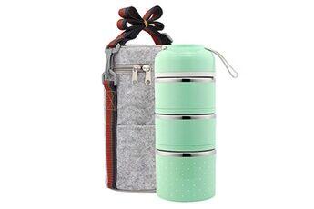 Generic Conteneur de pique-nique en acier inoxydable pour boîte à lunch thermique portable étanche aux fuites tool5149