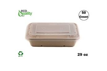 Generic Pâte jetable qui respecte l'environnement micro-ondable de pulpe de récipient de nourriture de boîte à lunch 50 pcs accessoire de cuisine 1380