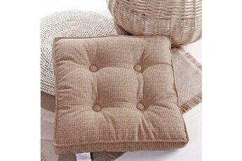 Generic Intérieur de la maison lin amovible tatami tapis cuisine chaise de bureau siège coussinets brun vinwo844