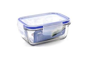 Euroweb Lunch box hermétique en verre rectangulaire transparent (14,5 x 10 x 6 cm) plat cuisine