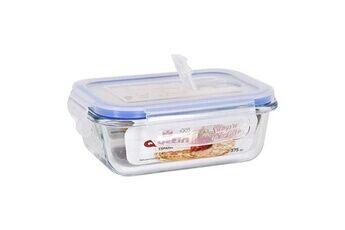 Euroweb Lunch box à fermeture hermétique rectangle transparent boite conservation repas mesure - 375 cc - 15