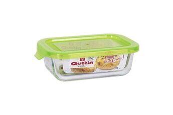 Euroweb Lunch box rectangulaire en verre avec couvercle plat de cuisine mesure - 375 cc - 15