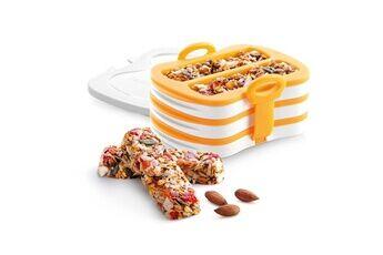 Tescoma 643188 moule et presse en silicone pour barres de céréales, jaune / blanc