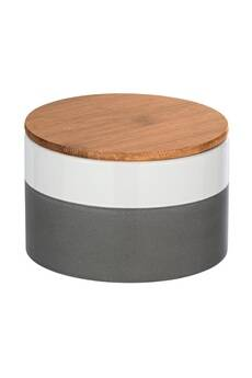 Wenko Boîte de conservation aliment design malta - 0,75 l - gris et blanc