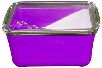 Take Away Grande lunch box avec compartiment amovible violet