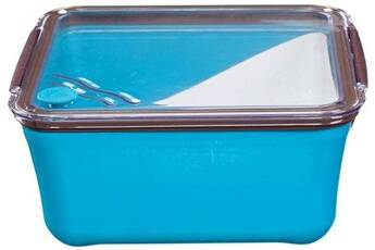 Take Away Grande lunch box avec compartiment amovible bleu