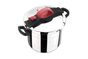 Marque Autocuiseur - cocotte minute  autocuiseur sitrapro avec panier vapeur - 10 l - ø 24 cm - gris, rouge et noir - tous feux dont induction